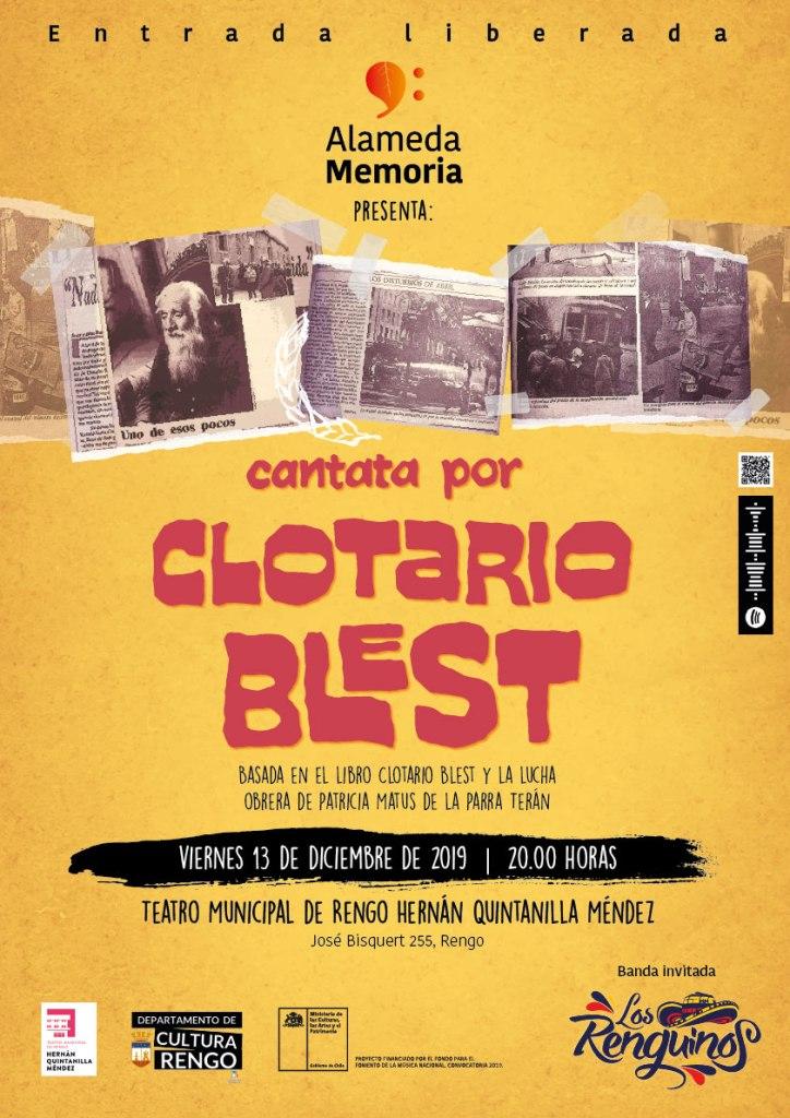 Afiche Cantata por Clotario Blest
