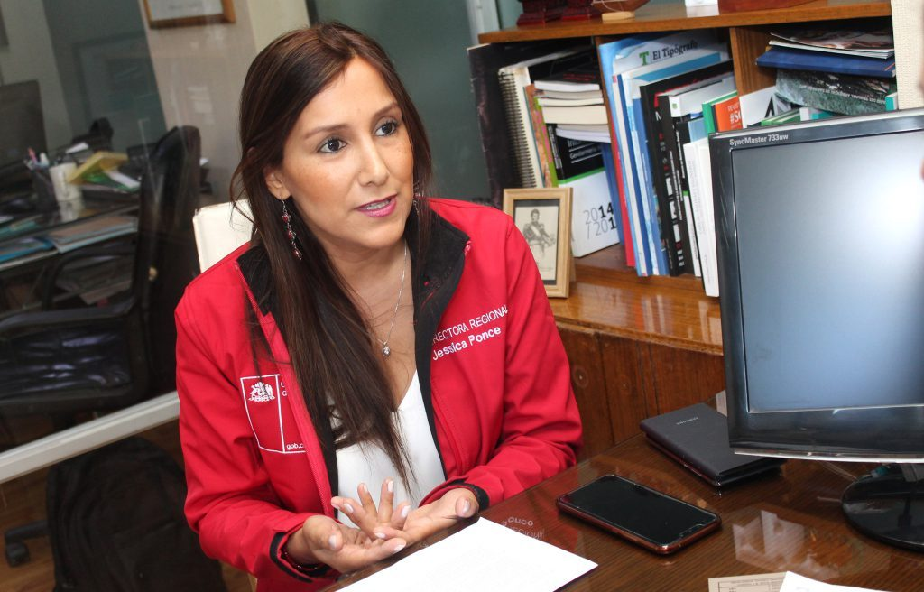Directora regional de Sename  Jessica Ponce
