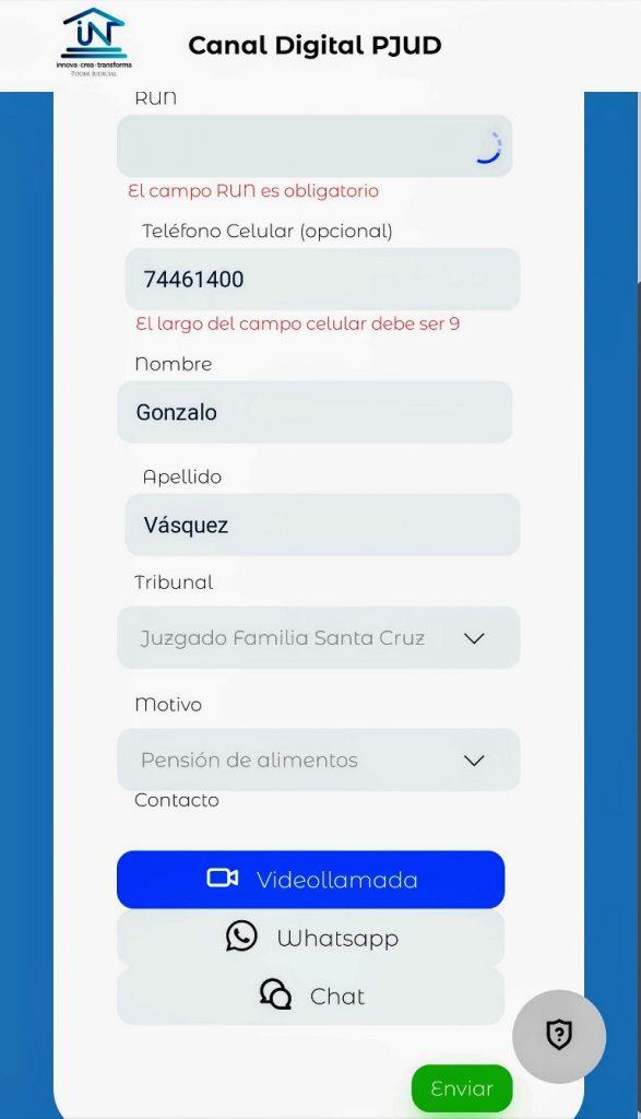 Conecta PJud Santa Cruz