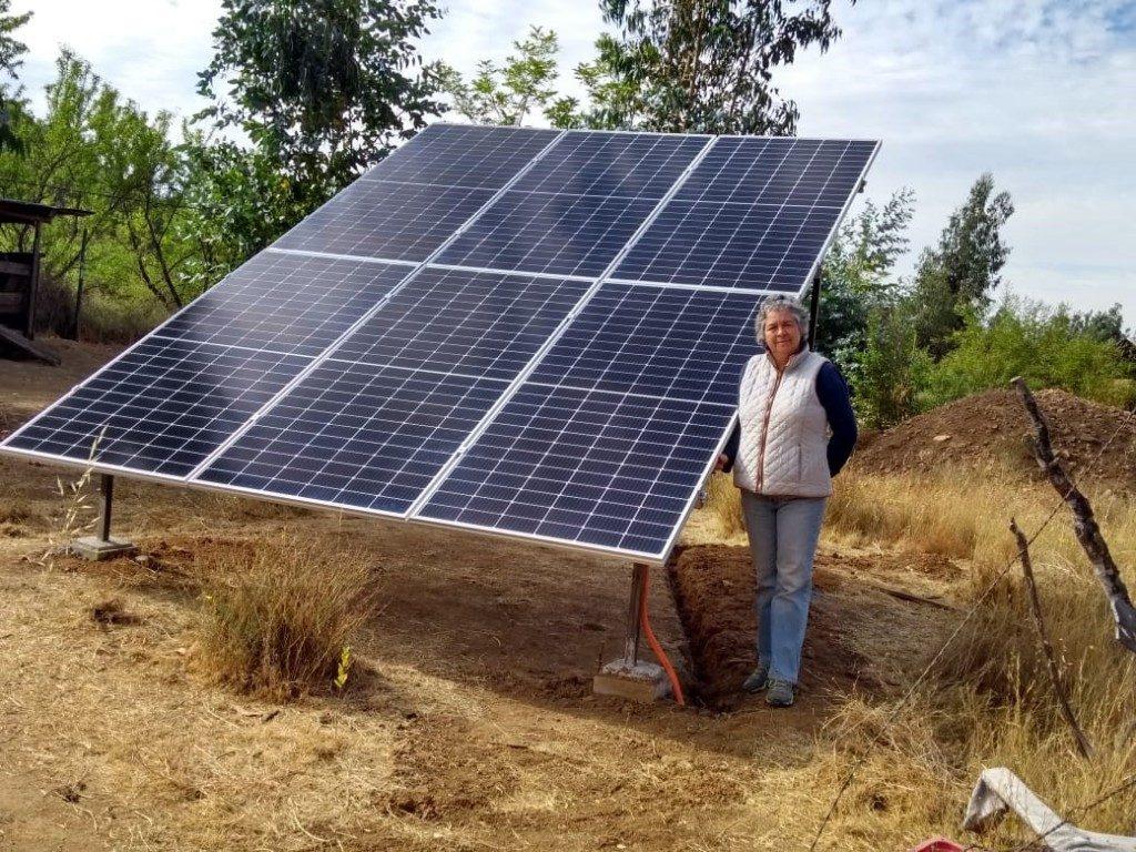 paneles solares en Casa ecológica